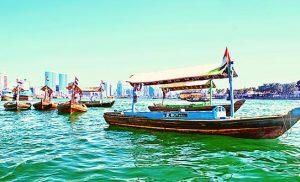 סירת אברה במרינה דובאי