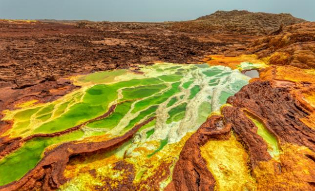 נהר במדבר דנקיל באתיופיה