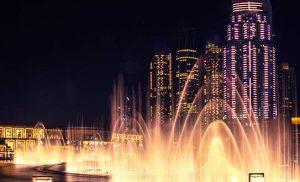 הקניון הגדול והמזרקה בדובאי