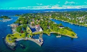 מבט על חצי האי ביגדוי בנורבגיה