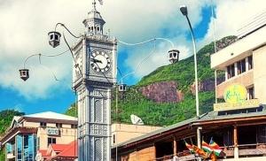 מגדל השעון בעיר ויקטוריה במאהה סיישל