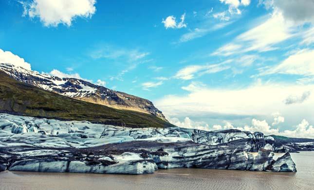 איסלנדVATNAJOKULL--קרחון