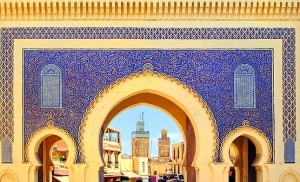 Blue Gate Bab Boujelud in Fes, Morocco