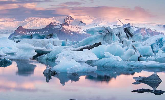 קרחון ולגונת Jokulsarlon באיסלנד