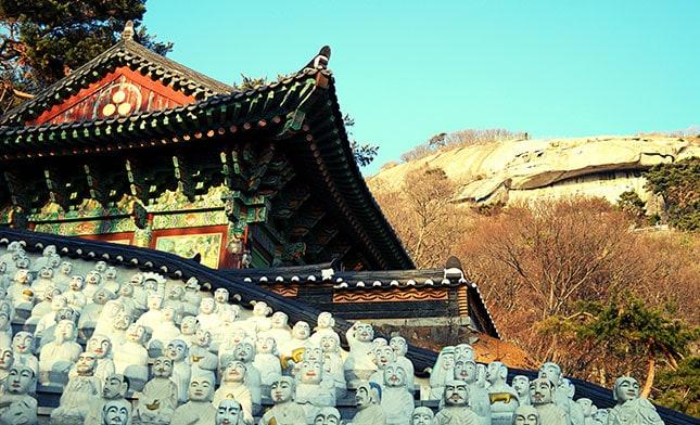 Bomunsa Temple seongmodo island SOUTH KOREA