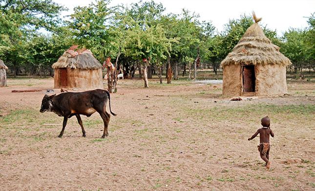 HIMBA VILLAGE NAMIBIA
